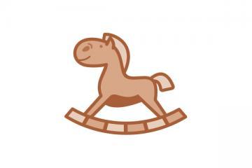 """Logo: """"Kolorowy kram"""" - proste formy zabawkarskie w pracy z dzieckiem, wspierające rozwój motoryczny dziecka"""