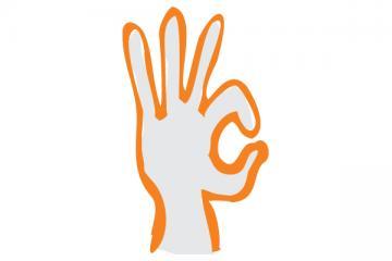 Logo: Jêzyk migowy
