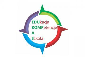 Logo: EDUKOMPAS, czyli edukacja, kompetencje aszko³a