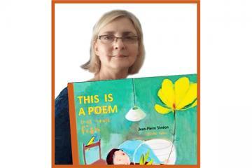 """Logo: """"This Is a Poem That Heals Fish"""" - poezja na lekcji języka angielskiego"""