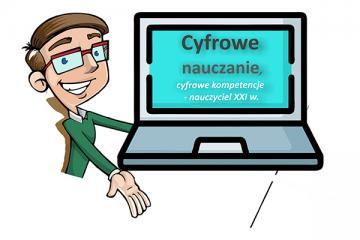 Logo: Cyfrowe nauczanie, cyfrowe kompetencje - nauczyciel XXI w.