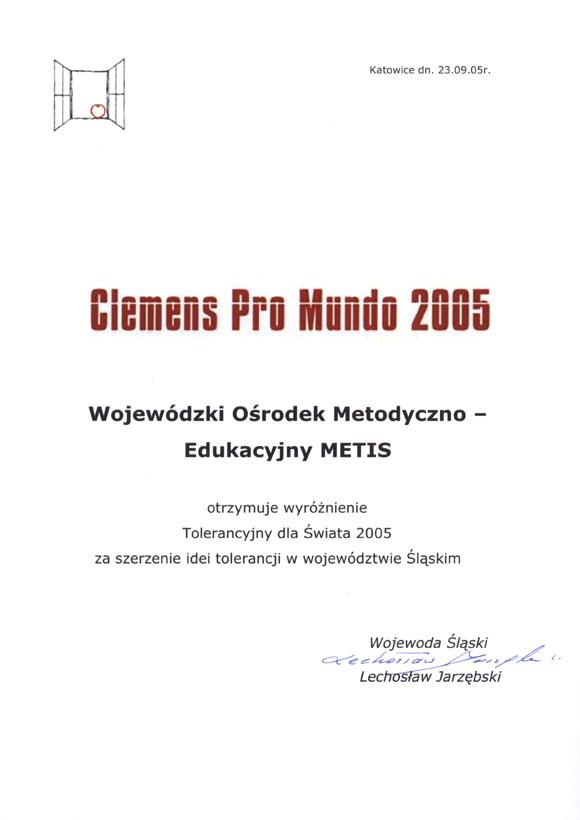 Clemens Pro Mundo 2005