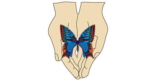 Logo: Pomaganie łączy
