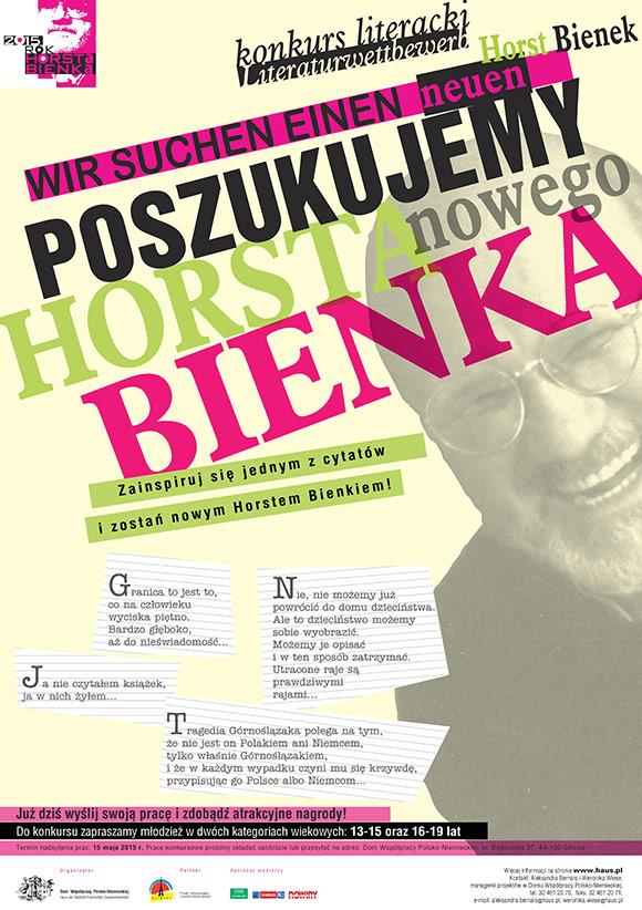 Plakat: Poszukujemy nowego Horsta Bienka