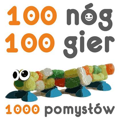 Logo 100 nóg, 100 gier, 1000 pomys³ów