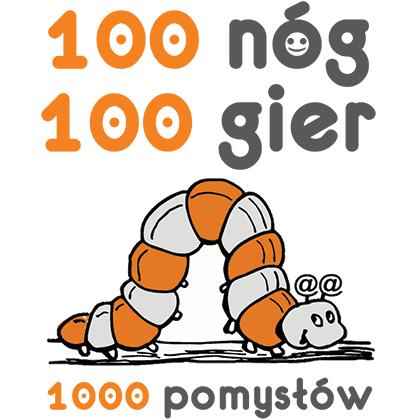 Logo 100 nóg, 100 gier, 1000 pomysłów
