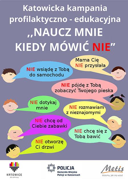 Plakat kampanii profilaktyczno-edukacyjnej
